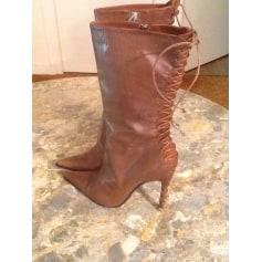 Bottines & low boots à talons ALEXANDRA NEEL Beige, camel