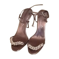 Sandales à talons ALEXANDRA NEEL Doré, bronze, cuivre