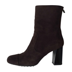 Bottines & low boots à talons TOD'S Marron