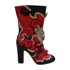 Bottines & low boots à talons DOLCE & GABBANA Multicouleur