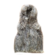 Fur Sleeveless Vest ZADIG & VOLTAIRE Green