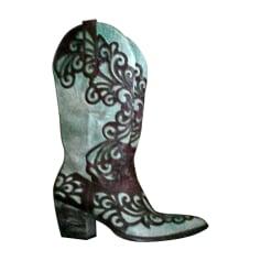 Cowboy Boots MEXICANA Green