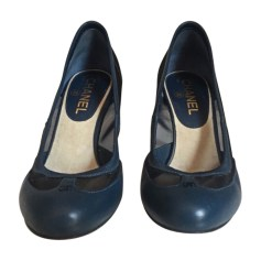Pumps, Heels CHANEL Blue, navy, turquoise