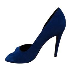 Escarpins à bouts ouverts CÉLINE Bleu, bleu marine, bleu turquoise