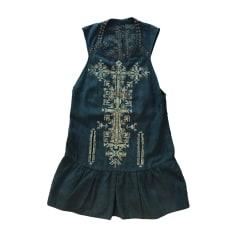 Robe courte ISABEL MARANT Bleu, bleu marine, bleu turquoise
