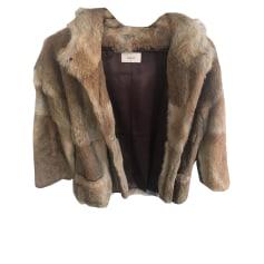 Manteau en fourrure BA&SH Marron