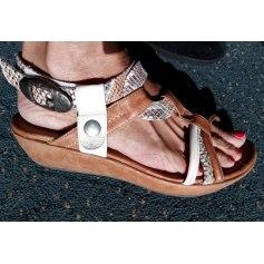 Sandales compensées REGARD Marron