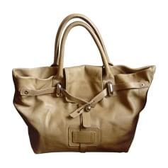 Leather Oversize Bag SONIA RYKIEL Beige, camel