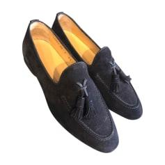 Loafers SANTONI Blue, navy, turquoise