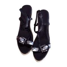 Sandales compensées BURBERRY Noir