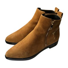 Santiags, bottines, low boots cowboy KENZO Beige, camel