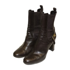 Biker Ankle Boots SERGIO ROSSI Brown