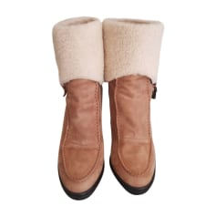 Bottines & low boots à talons TOD'S Beige, camel