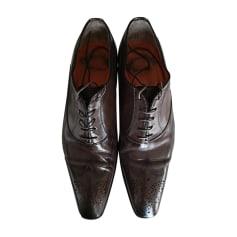 Chaussures à lacets SANTONI Gris, anthracite