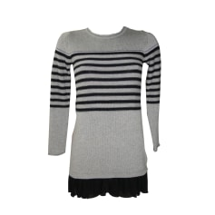 Robe pull IKKS Gris, anthracite