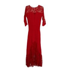 Maxi Dress MAJE Red, burgundy