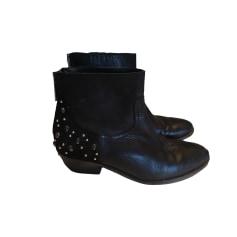 Cowboy Ankle Boots ZADIG & VOLTAIRE Black