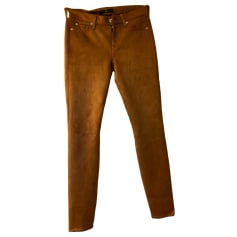 Jeans slim 7 FOR ALL MANKIND Marron