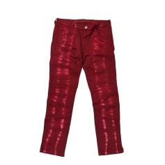 Pantalon droit ZADIG & VOLTAIRE Rouge, bordeaux