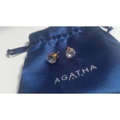 Boucles d'oreille AGATHA Cristal Transparent or
