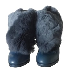 Bottines & low boots à talons SONIA RYKIEL Bleu, bleu marine, bleu turquoise