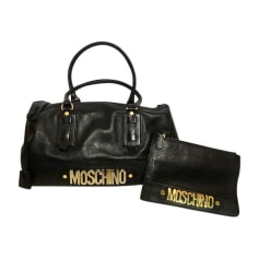 Leather Handbag MOSCHINO Black