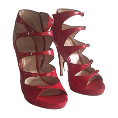 Heeled Sandals CASADEI Red, burgundy