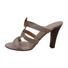 Heeled Sandals SALVATORE FERRAGAMO Beige, camel