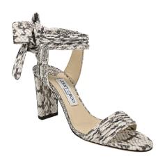 Heeled Sandals JIMMY CHOO White, off-white, ecru