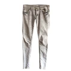 Skinny Pants, Cigarette Pants MAJE Gray, charcoal