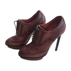 Chaussures à lacets  SANTONI Patine ambrée