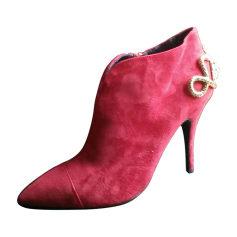 Bottines & low boots à talons ROBERTO CAVALLI Rouge, bordeaux