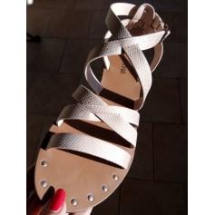 Nouvelles Arrivées 1c610 40513 Sandales plates JustFab Femme : articles tendance - Videdressing
