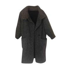 Manteau tres long gris femme