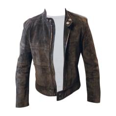 Blousons en cuir Homme de marque   luxe pas cher - Videdressing 2559e025f8a