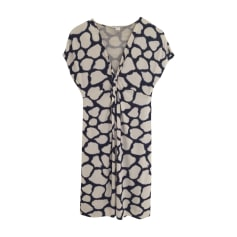 Mini-Kleid DIANE VON FURSTENBERG Bleu et blanc