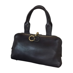 Leather Handbag PAULE KA Brown
