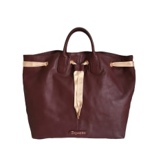 Leather Handbag REPETTO Red, burgundy