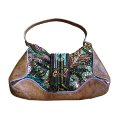 Leather Handbag CHRISTIAN LACROIX Beige, camel