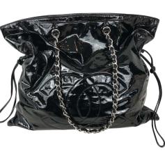 Leather Oversize Bag CHANEL Black