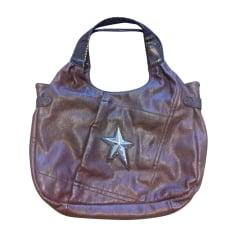 Leather Handbag THIERRY MUGLER Brown