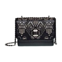 Leather Shoulder Bag ELIE SAAB Black