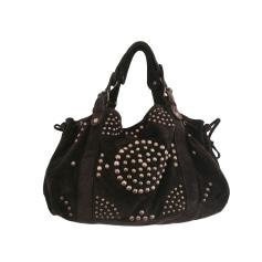 Leather Shoulder Bag GERARD DAREL Brown