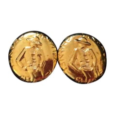 Ohrringe CHANEL Gold, Bronze, Kupfer