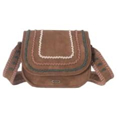 Leather Shoulder Bag IKKS Brown
