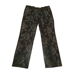 Pantalone svasato BLUMARINE Argentato, acciaio