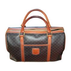 Leather Handbag CÉLINE Brown