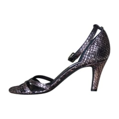 Heeled Sandals MARC JACOBS Silver