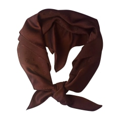 Silk Scarf LOUIS VUITTON Brown