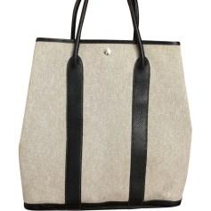 Non-Leather Handbag HERMÈS Garden Party White, off-white, ecru